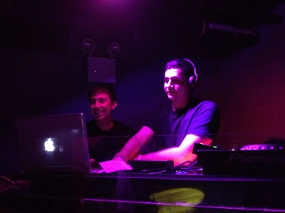 The DJing duo, A2Z, performed at Pacha last Thursday night.