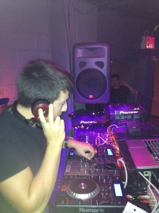 Chris Aurrichio takes a turn manning the dials as one half of DJ A2Z.