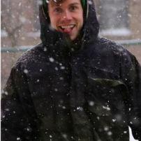 Brandon Devlin enjoys the snow day. Photo by Michelle DePinho.