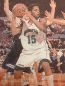 Dave Holmes is seventh all-time in Manhattan history with 826 career rebounds. Photo courtesy of gojaspers.com.