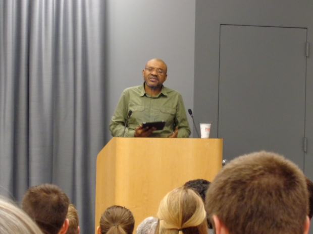 Poet Kwame Dawes gave a captivating poetry reading at a MARS event. Photo by Claire Leaden.