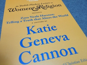 The pamphlet handed out during Katie Cannon's lecture. Photo by Sean Sonnemann.