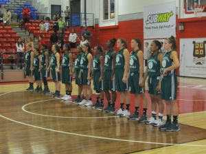 The women's basketball team ended their Canadian exhibition tour with a 3-1 record. Photo courtesy of GoJaspers.com