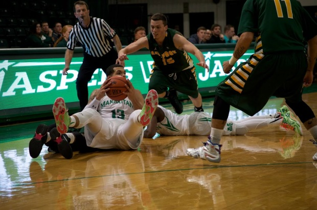 Fouls and sloppy offensive play plagued the Jaspers in its season opener. Photo by Kevin Fuhrmann.