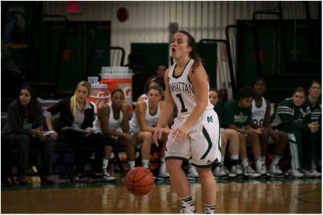 Point guard Jacqui Thompson will look to take over the role Allison Skrec played last season. Photo by Kevin Fuhrmann.