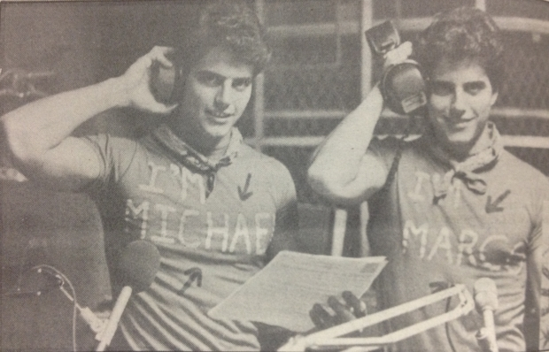 1983-Twins Michael and Marco Posillico. Photo Courtesy of The Manhattan College Archives