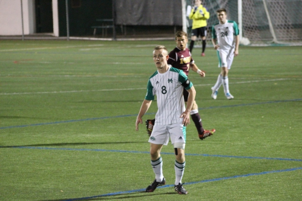 Alex Shackley preparing his next move during the final game of the season against the Iona Gaels. Photo taken by Christian Jordan Roodal.