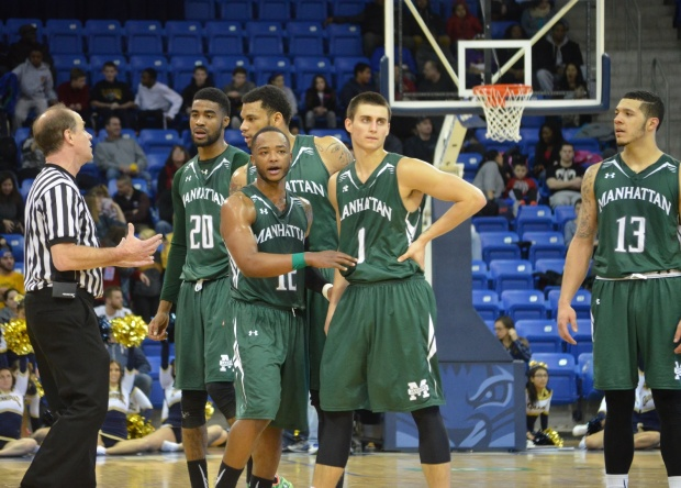 inside the numbers where the jaspers stand halfway through the maac
