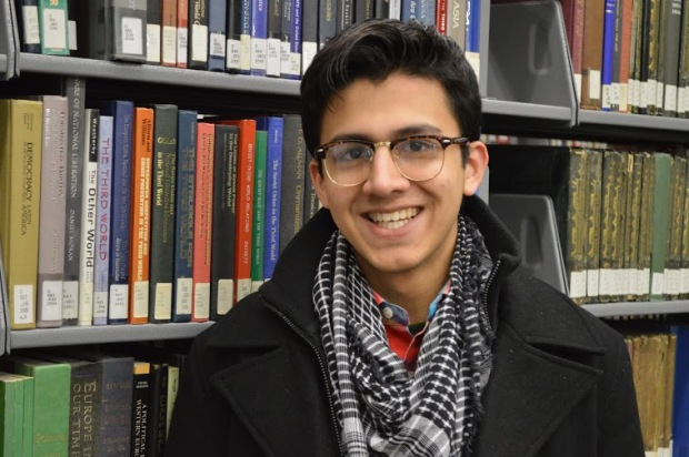Harris Ali, president of the Muslim Student Association.  Kevin Furhmann/The Quadrangle