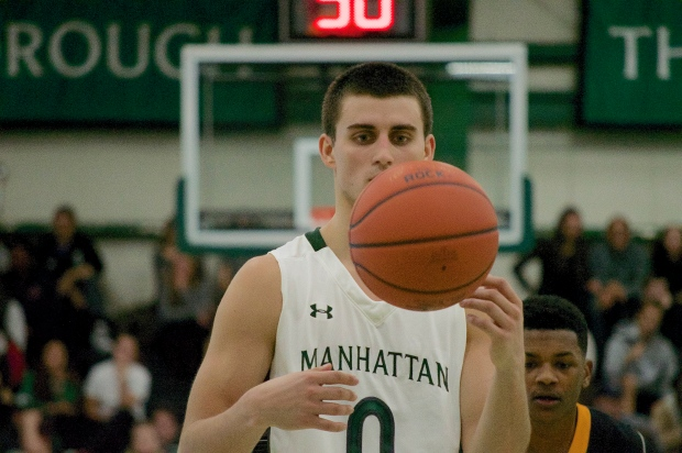Shane Richards scored 38 points against Adelphi on Monday. Photo by Kevin Fuhrmann.