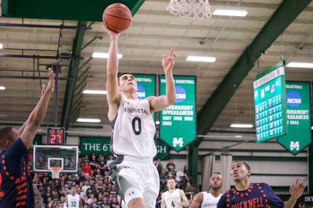 Shane Richards scored a career-high 28 points, but it wasn't enough for the Jaspers who lost 80-67. Photo by Kevin Fuhrmann.
