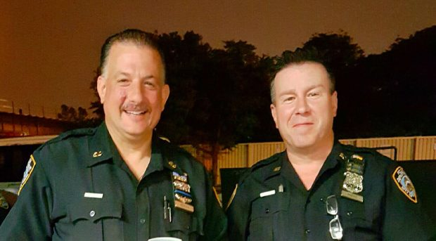 From left officers Roland Benson and Kevin Preiss. NYPD/Courtesy