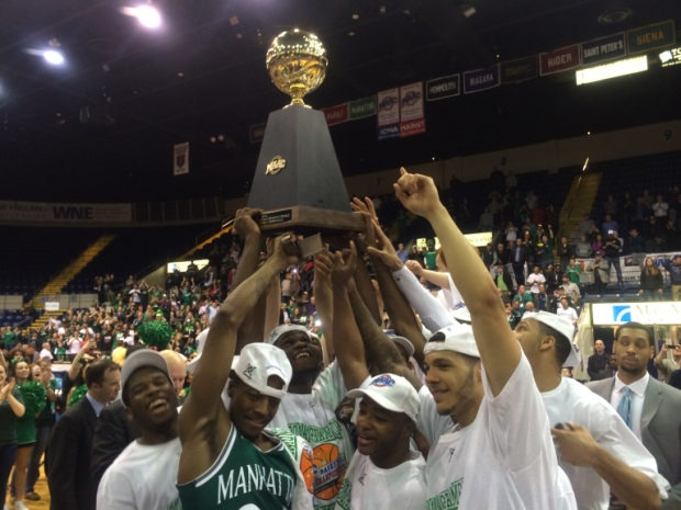 Manhattan won its first of consecutive MAAC titles in 2014. Chris Cirillo/ The Quadrangle